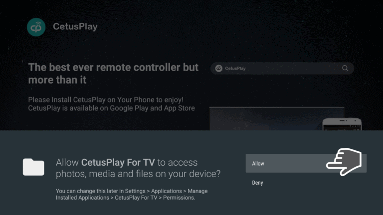 Alloe CetusPlay for TV to access media on your device