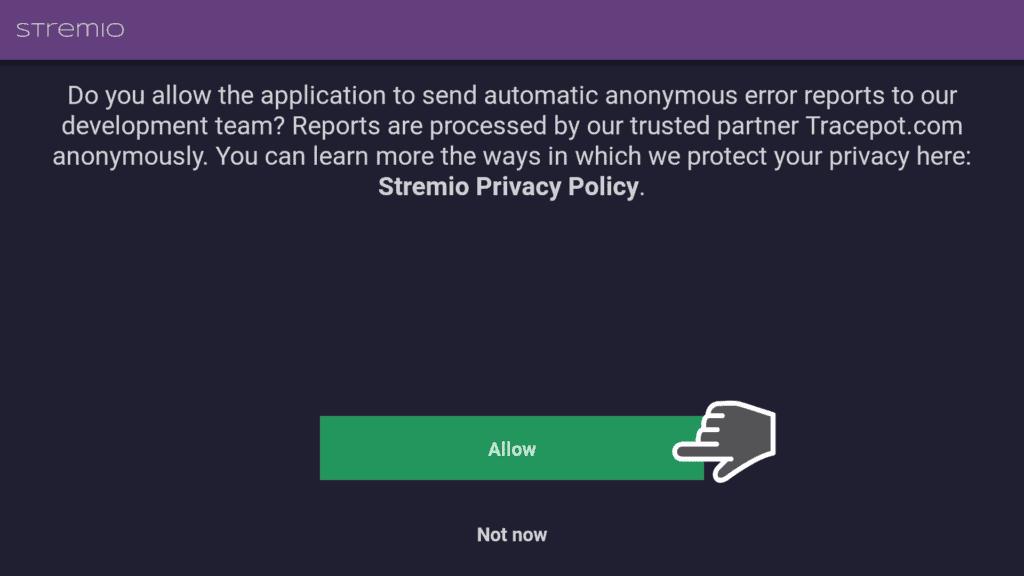 Allow Stremio Privacy Policy