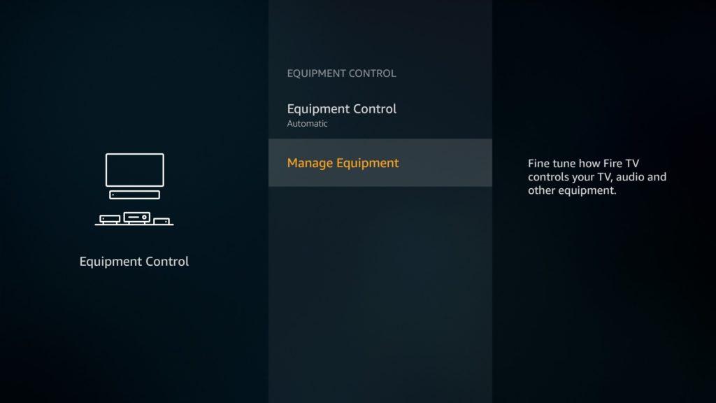 Equipment control