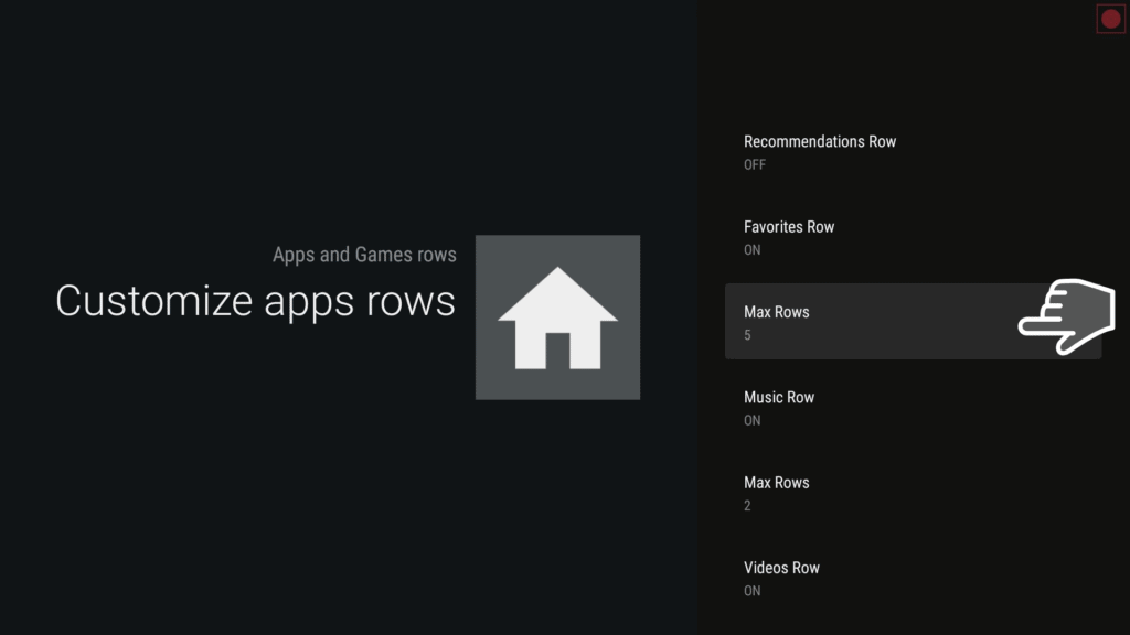 Leanback customize apps rows
