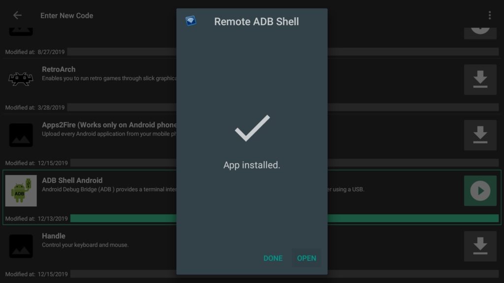 Open Remote ADB Shell on Firestick