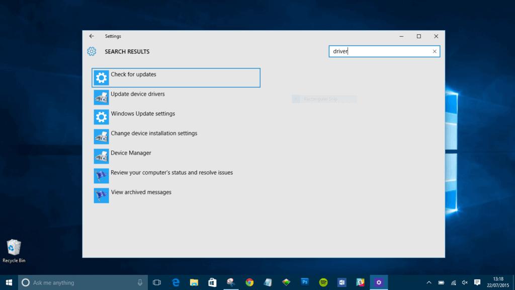 change device installation settings