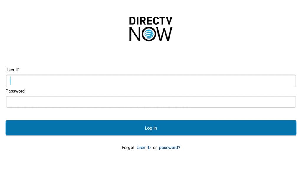 DirecTV Now Credentials on Firestick