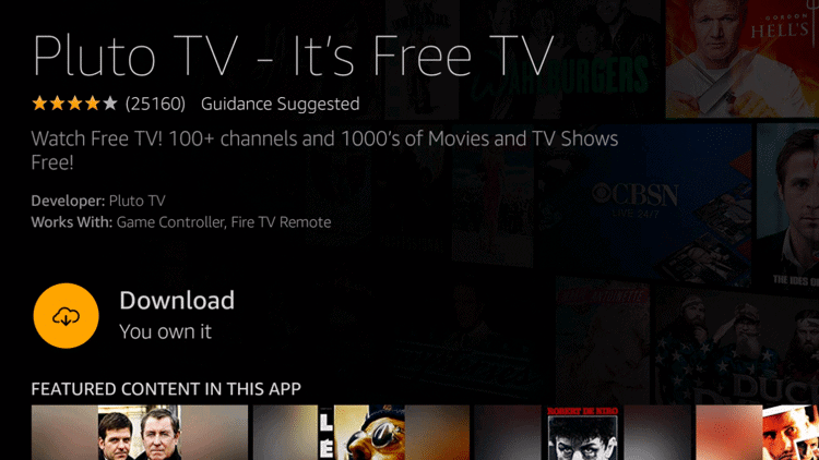 Download Pluto TV on Firestick