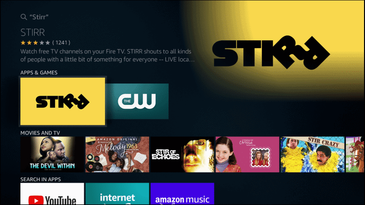 How to Install STIRR on Firestick