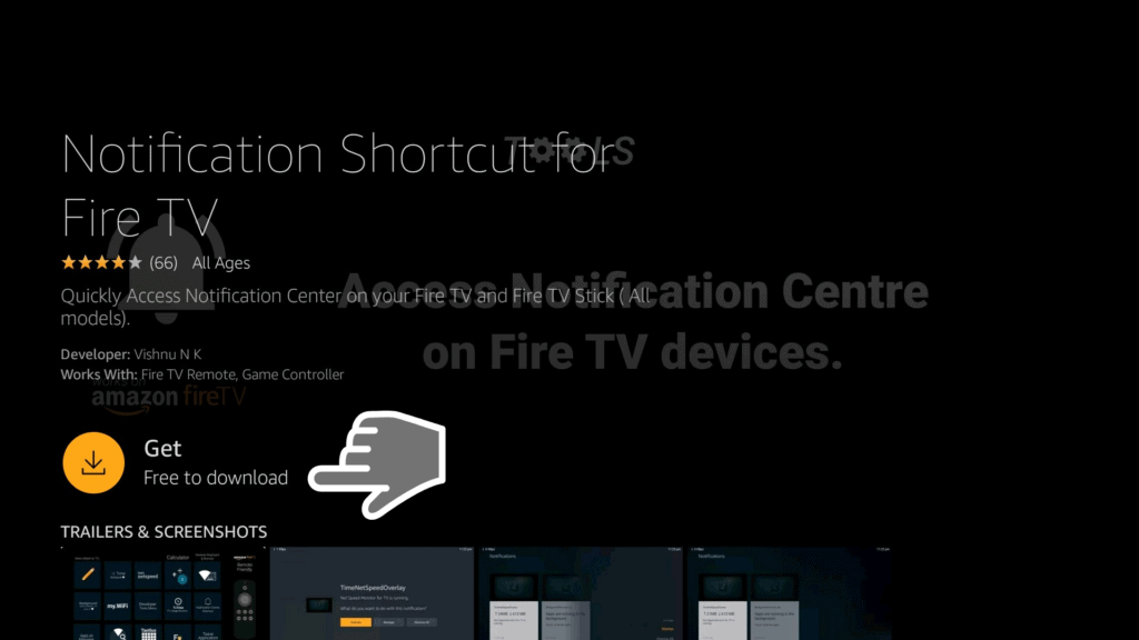 Notification Shortcut Menu