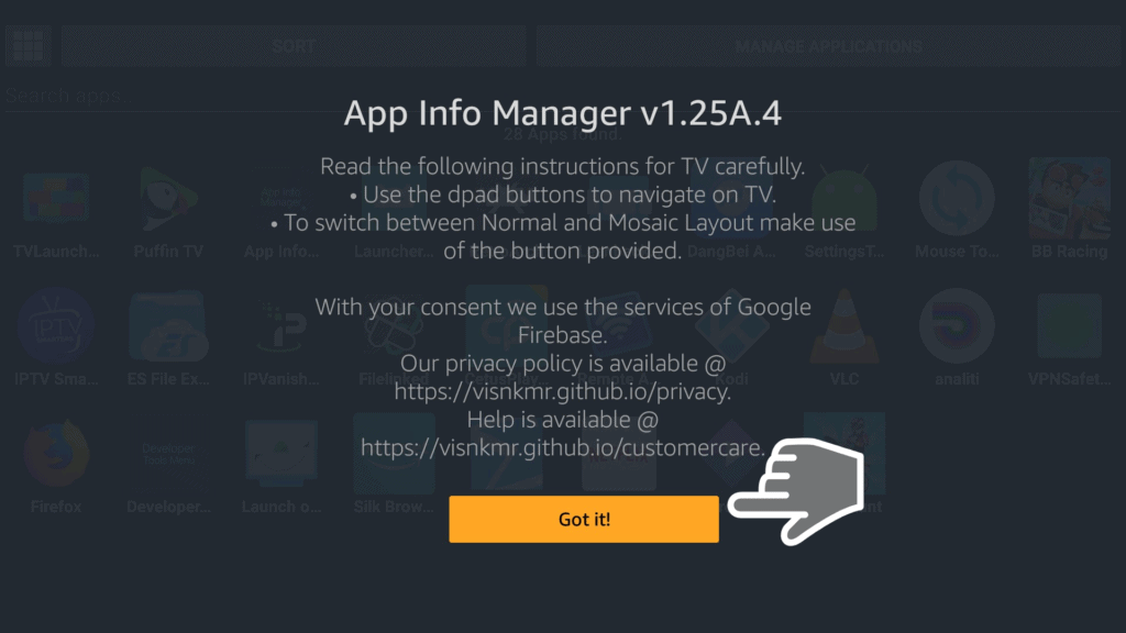 App Info Manager