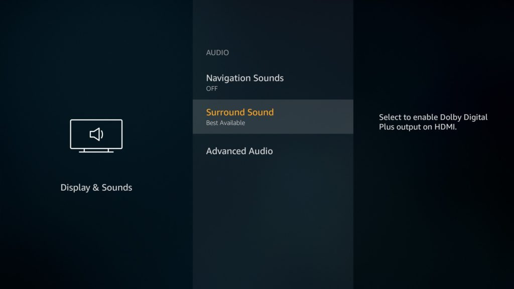 Display & Sounds - Surround Sound