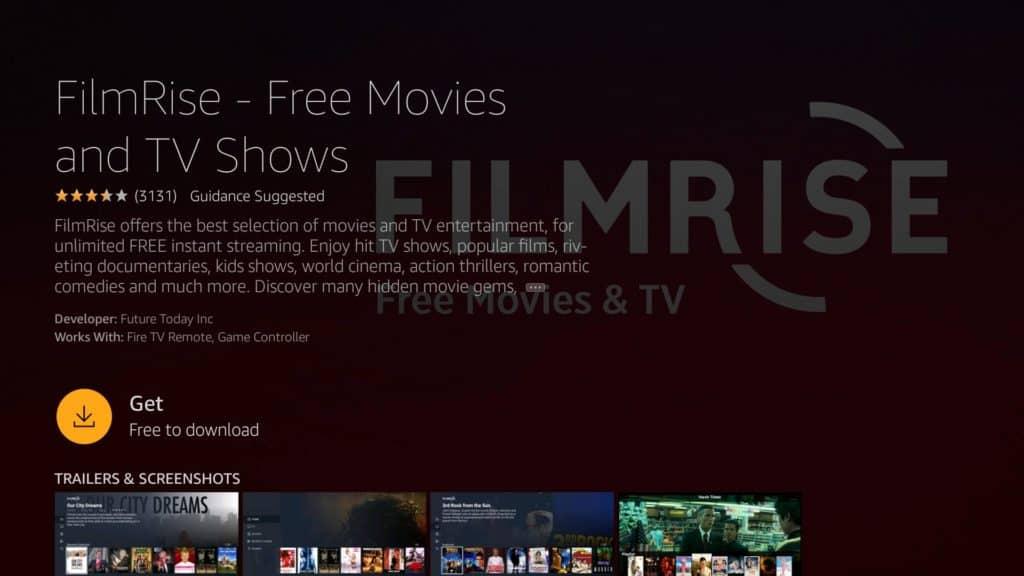 Download FilmRise on Firestick
