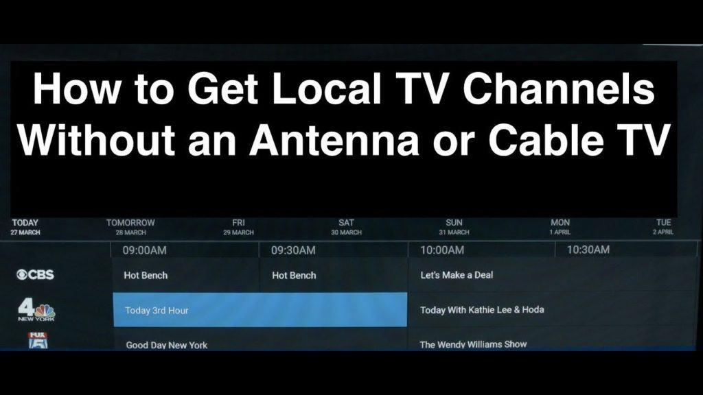 how to watch free tv without antenna