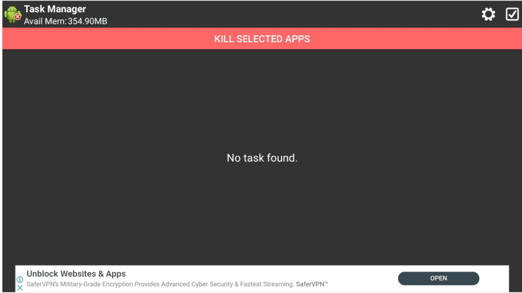 task killer interface