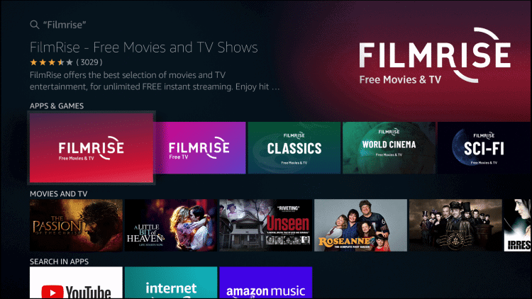filmrise interface