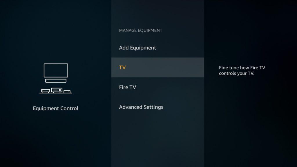 Manage Equipment TV