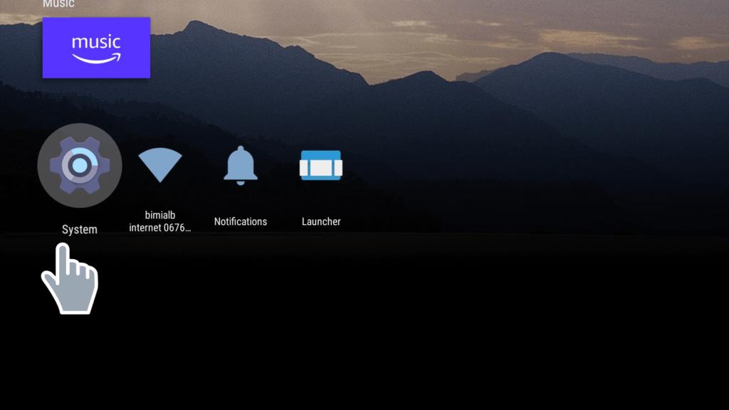 Settings Leanback launcher 9.1