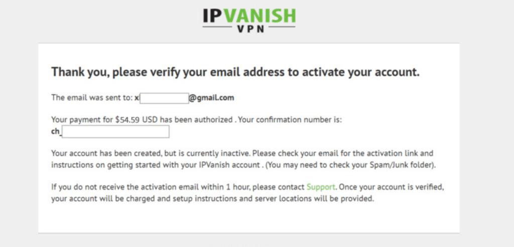 IPVanish email