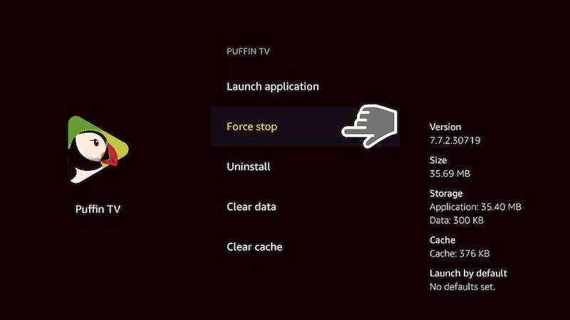 Force stop app