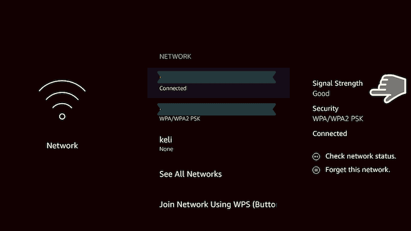 Firestick Network signal strength