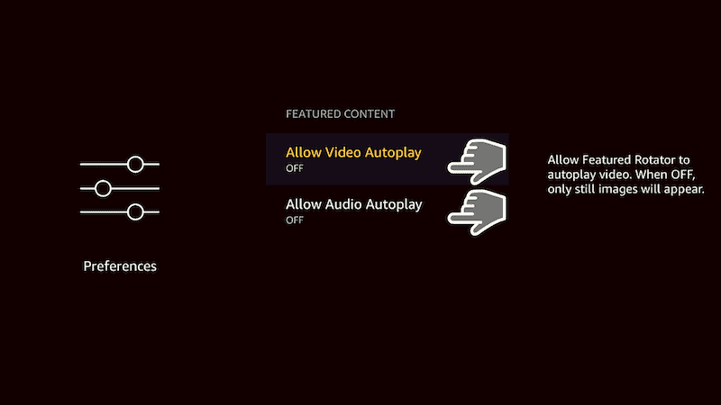Allow Video Autoplay and Allow Audio Autoplay.