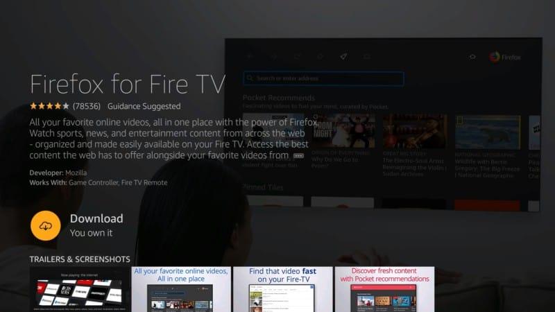 download FIREFOX App on Firestick
