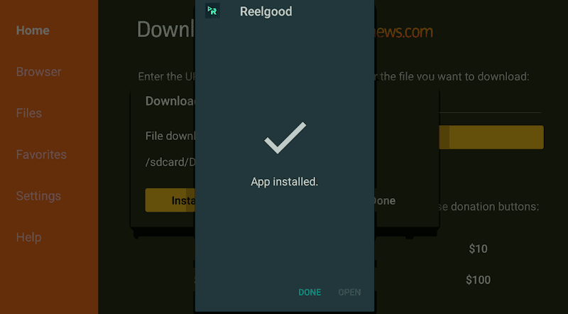 Done to Install Reelgood AIO App