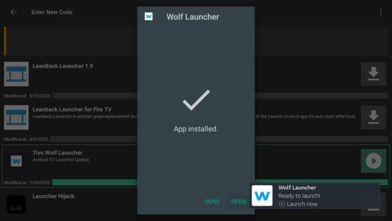 open wolf launcher