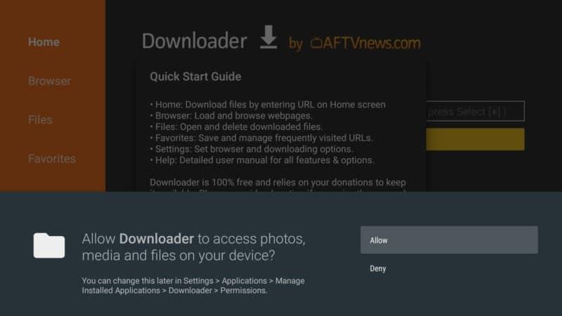 allow downloader app