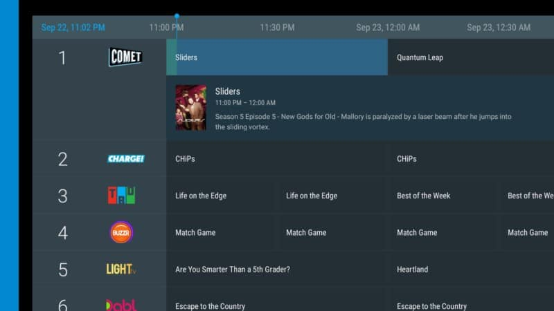 fitzy tv interface