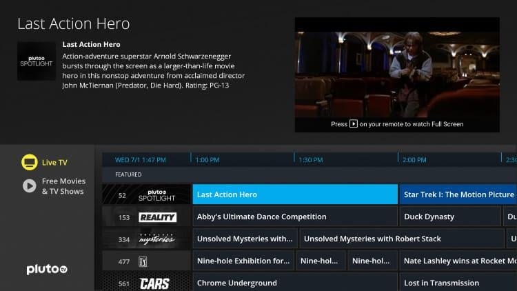 pluto tv app firestick