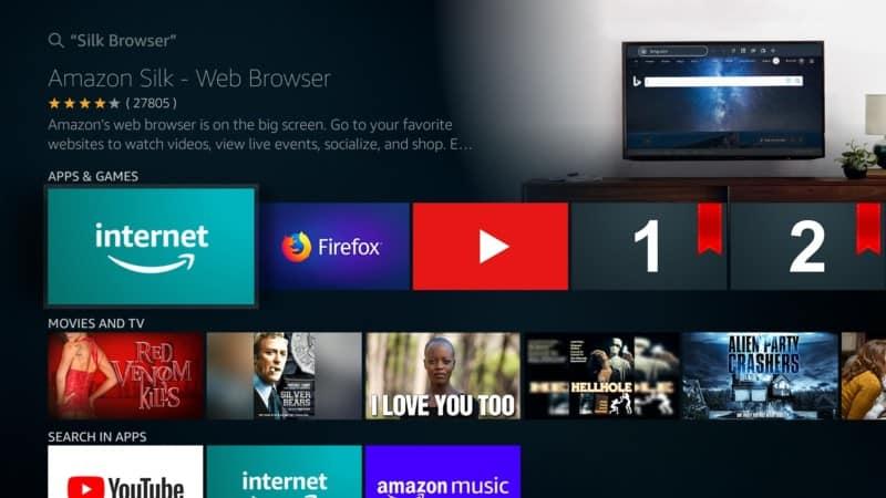 silk browser app on Firestick