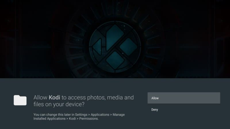 allow kodi