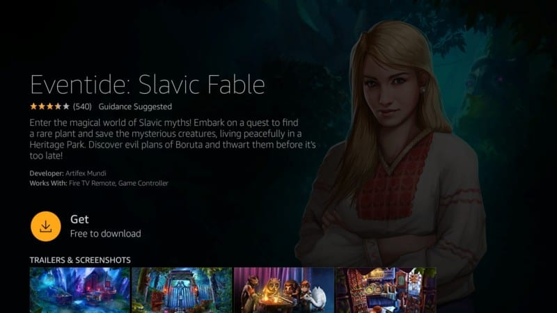 eventide: slavic fable game firestick