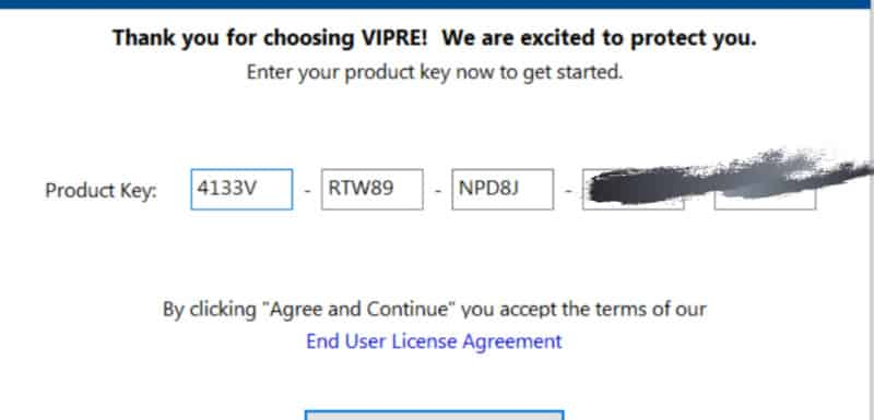 Vipre product key