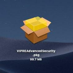downloaded Vipre package mac