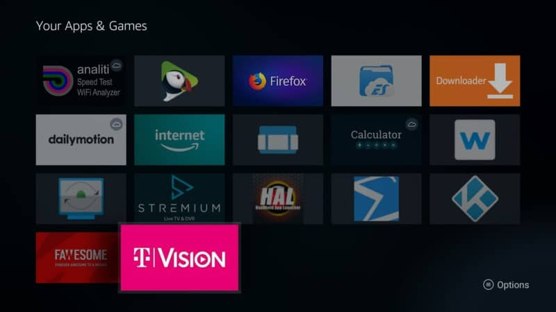 TVision apps and games