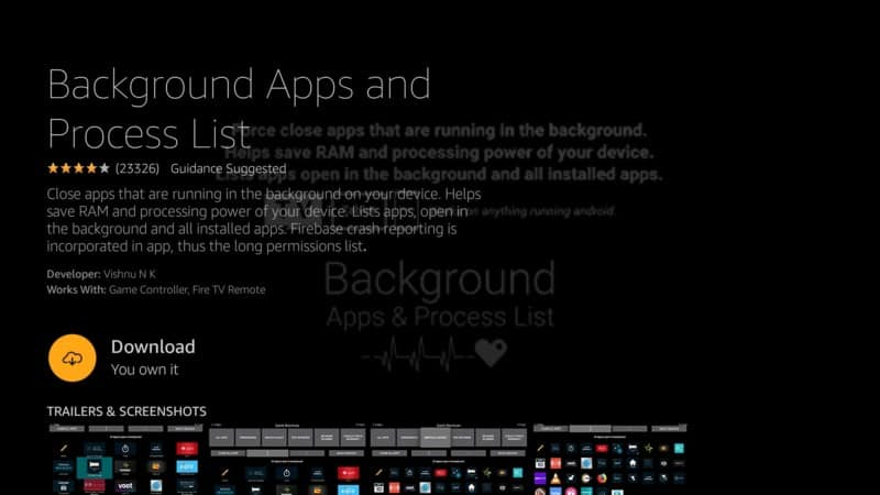 download background apps and process list app