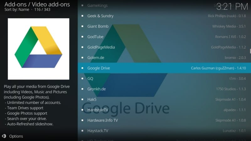 google drive add-ons