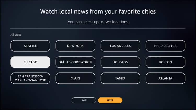 local news on firestick location