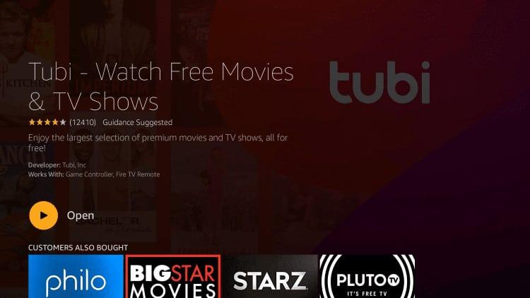 open tubi tv firestick