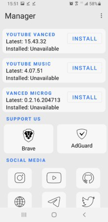Vanced Manager Android app