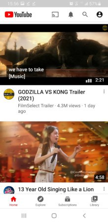 Youtube Vanced apps interface
