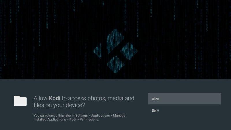 allow Kodi 19 Matrix