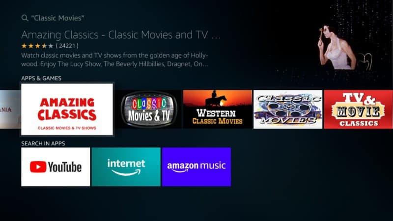 amazing classics movie app