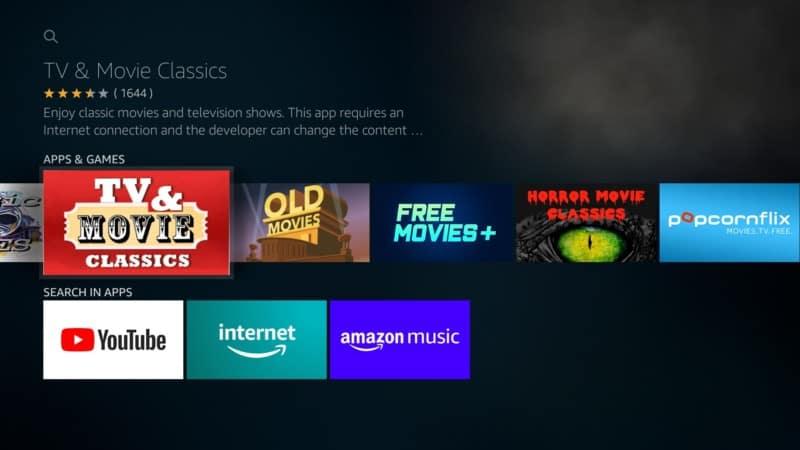 tv & movie classics app