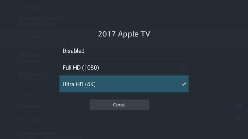 apple tv ultra HD