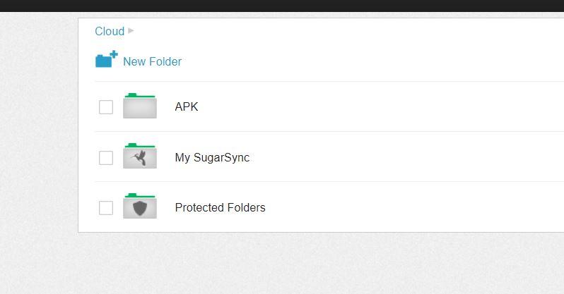 cloud new folder