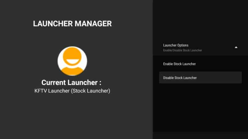 disable stock launcher