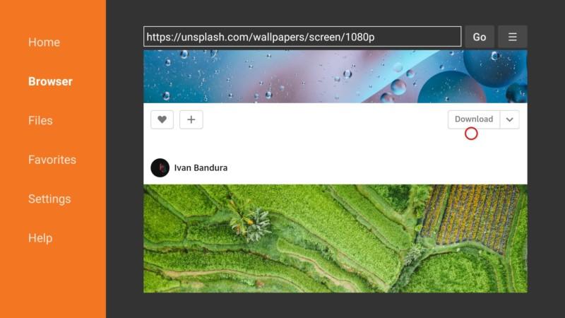 download wallpaper on firestick via downloader