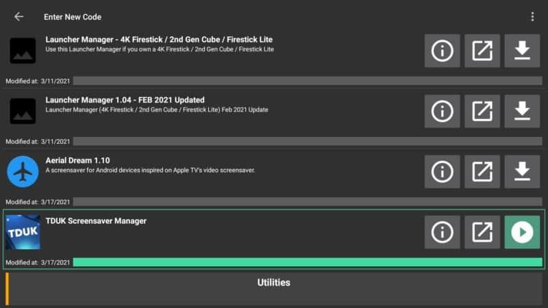 tduk screensaver manager on filelinked