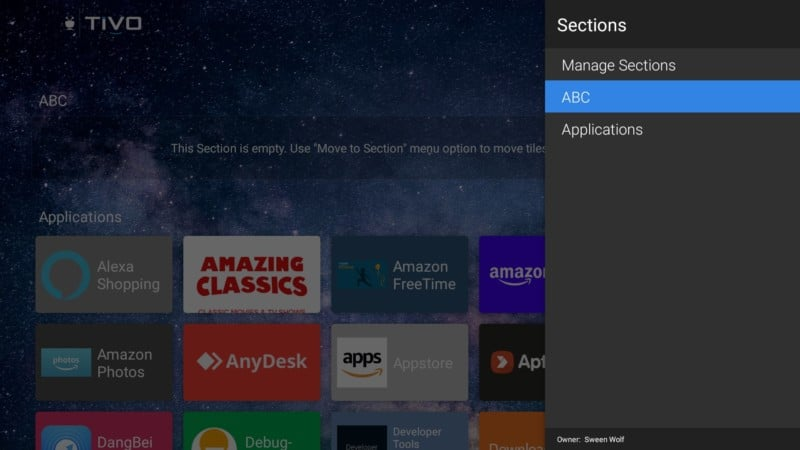 tivo wolf launcher section