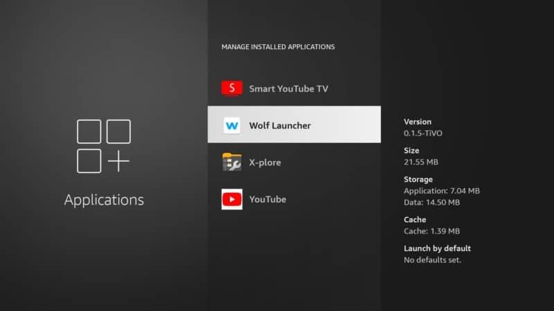 wolf launcher applications Firestick